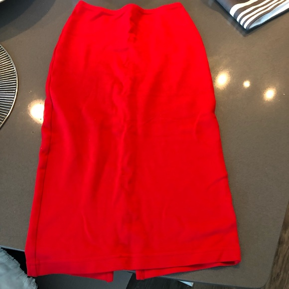 American Apparel Dresses & Skirts - American Apparel High Waisted Pencil Skirt Red